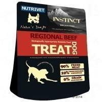 Nutrivet Instinct Dog Treat Regional Beef - säästöpakkaus: 3 x 250 g