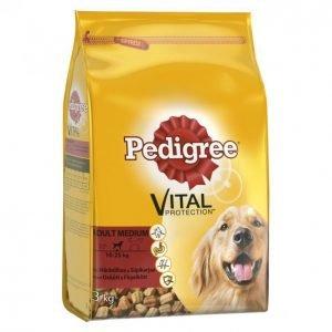 Pedigree Koiranruoka 3kg Adult Häränl-Siipikarja