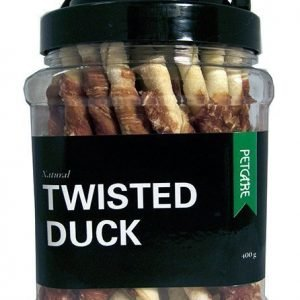 Petcare Tuggpinnar Twisted Duck 400 G