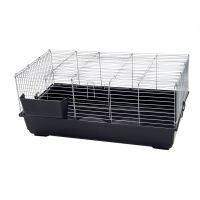 Piggy Basic -pieneläinhäkki - tummanharmaa: P 100 x L 56 x K 45 cm