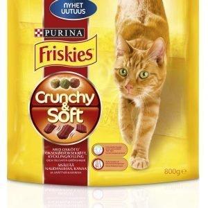 Purina Friskies Crunchy & Soft 800 G Nautaa