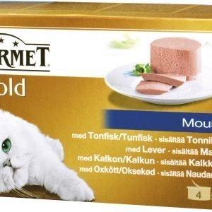 Purina Gourmet Gold 4x85 G Mousse -lajitelma Kissanruoka