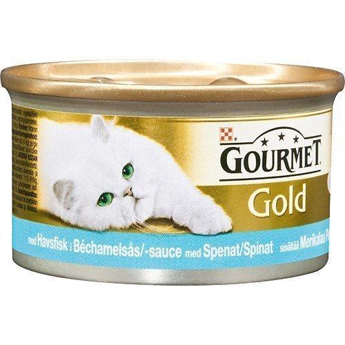 Purina Gourmet Gold Delicatesse Havsfisk I Bechamel & Spenatsås 24x85g