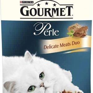 Purina Gourmet Perle 85 G Kanaa & Naudanlihaa Delicate Meats Duo Kissanruoka