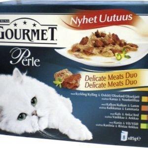 Purina Gourmet Perle 8x85 G Delicate Meats Duo -lajitelma Kissanruoka