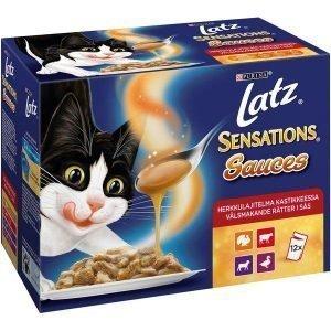 Purina Latz Sensations Sauces 12x100 G Herkkulajitelma Kastikkeessa Kissanruoka