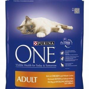 Purina One Adult 800 G Runsaasti Kanaa Ja Täysjyväviljaa Kissanruoka