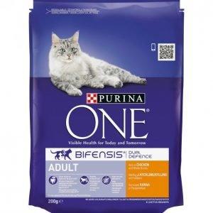 Purina One Kissanruoka 200 G Adult Kanaa Ja Täysjyväviljaa