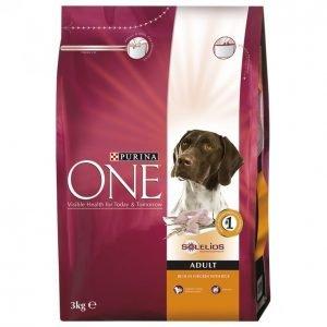 Purina One Koiranruoka 3kg Adult Kana-Riisi