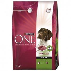 Purina One Koiranruoka 3kg Adult Lammas-Riisi