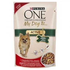 Purina One My Dog Is Active 100 G Koiranruoka Kastikkeessa