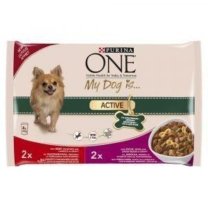 Purina One My Dog Is Active 4 X 100 G Koiranruoka