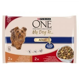 Purina One My Dog Is Adult 4x100 G Koiranruoka
