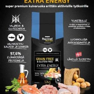 Racinel Black Label Extra Energy 12kg Koiranruoka