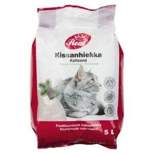 Real Cat Kissanhiekka 5l Mänty Paakkuuntuva