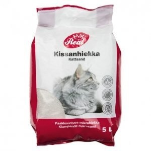 Real Cat Kissanhiekka 5l Paakkuuntuva