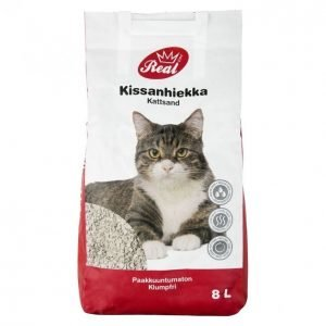 Real Cat Kissanhiekka 8l Paakkuuntumaton
