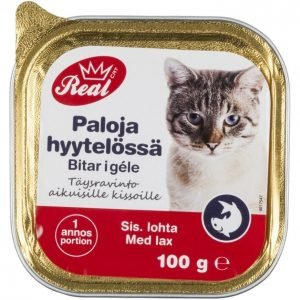 Real Cat Kissanruoka 100 G Lohi