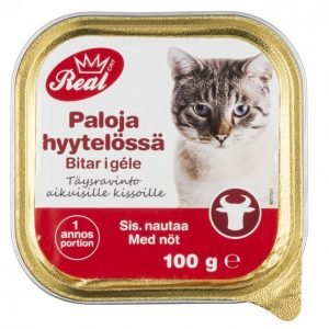 Real Cat Kissanruoka 100 G Naudanliha