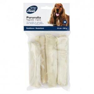 Real Dog Pururulla 13 Cm Vaalea 4 Kpl 100 G