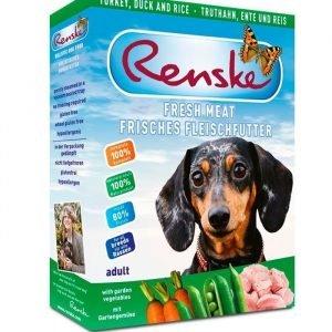 Renske Hund Kalkon Anka & Ris 10x395 Gram