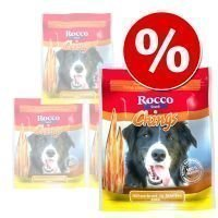 Rocco Chings -säästöpakkaus - kananrintasuikale (4 x 250 g)