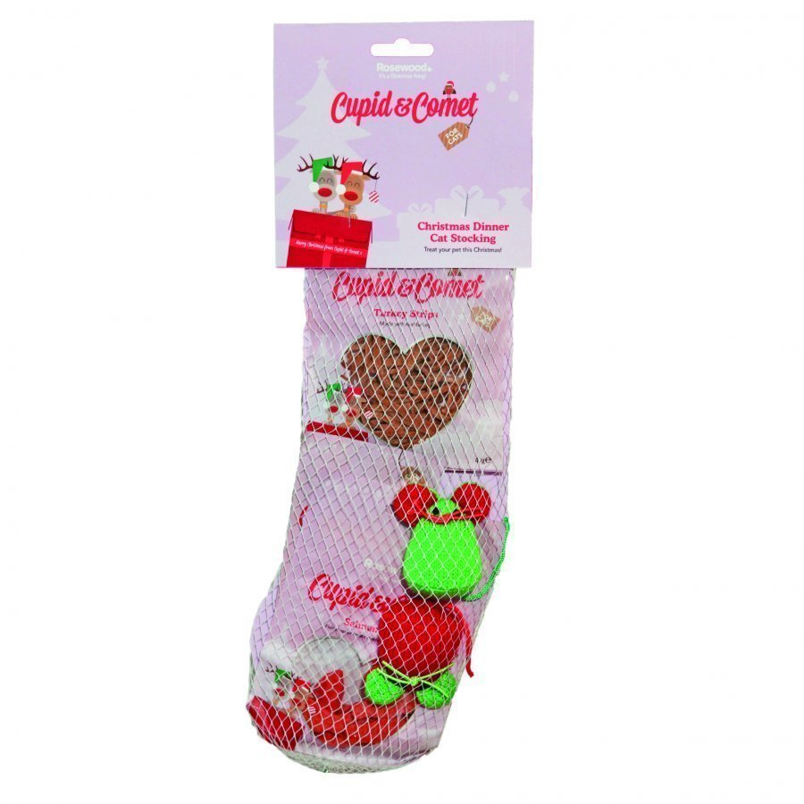 Rosewood Cupid & Comet Christmas Dinner Cat Stocking