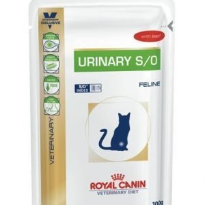 Royal Canin Veterinary Diets Cat Urinary S / O Beef Pouch 12x100 G