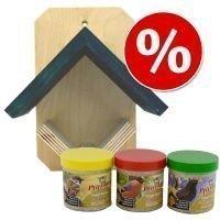 Säästöpaketti: Bistro-lintulauta + monipakkaus - 4-osainen setti