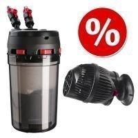 Säästösetti: Hydor Prime -ulkosuodatin + Hydor-pumppu - Prime 10 -ulkosuodatin + Koralia Nano 900