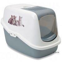 """Savic Nestor Impression """"Kitten"""" -kissanvessa - vaaleanharmaa / valkoinen"""