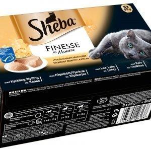 Sheba Finesse Mousse Valikoidut 8 X 85 G Kissan Annospakkaukset