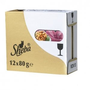 Sheba Kissanruoka 80 G 12 Pack Luxuries Merellinen