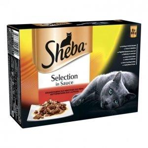 Sheba Selection 8x85g Keittiömestarin Lajitelma Annospussissa
