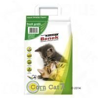 Super Benek Corn Cat Fresh Grass - säästöpakkaus: 3 x 7 l (noin 15 kg)