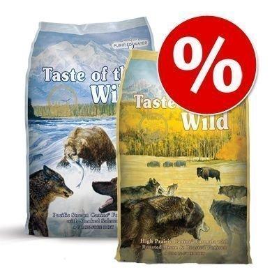 Taste of the Wild -koiranruokalajitelma: 2 x 13 kg - High Prairie + Southwest Canyon