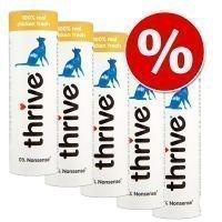 Thrive Cat Snacks -säästöpakkaus - Chicken (5 x 25 g)