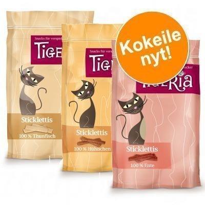 Tigeria Sticklettis monen maun kokeilupakkauksessa - 3 makua