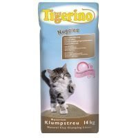 Tigerino Nuggies -kissanhiekka - säästöpakkaus: 2 x 14 kg