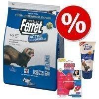 Totally Ferret -ruoka- ja nautiskelupaketti freteille - 3-osainen