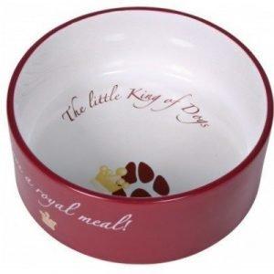 Trixie Keramikskål King Of Dogs 250 Ml Vinröd