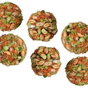 Trixie Natur Snack Pallot Porkkana / Herneet 6 Kpl Pakkaus