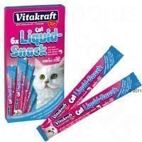 Vitakraft Cat Liquid-Snack Salmon + Omega 3 - 6 x 15 g