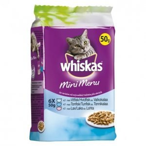 Whiskas Kissanruoka 6 X 50 G Mini Menu Kala