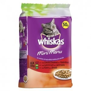 Whiskas Kissanruoka 6 X 50 G Mini Menu Liha