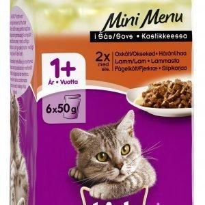 Whiskas Mini Menu Mix 6 X 50 G Kissan Annospakkaukset