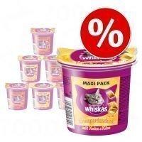 Whiskas Temptations -valikoima 6 x 105 g - kana & juusto + nauta