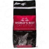 World's Best Extra Strength -kissanhiekka - säästöpakkaus: 2 x 12