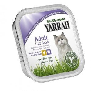 Yarrah Cat Organic Chicken & Turkey Chunks 16x100 G