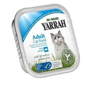 Yarrah Cat Organic Fish Chunks 16x100 G
